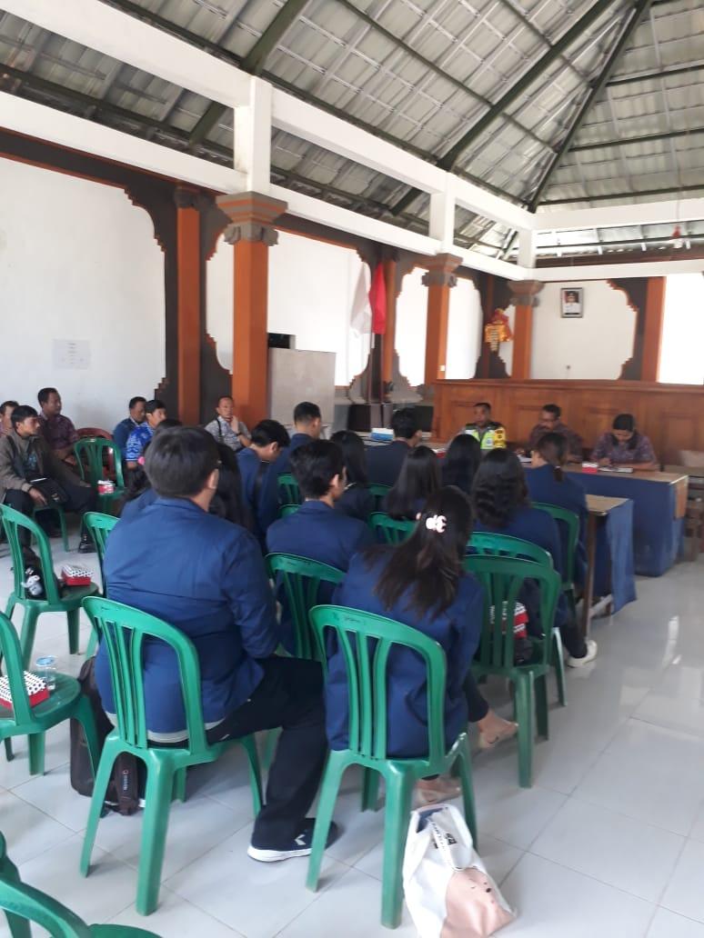 Rapat Acara Tatap Muka dengan KKN dari Mahasiswa/Mahasiswi UNDIKNAS