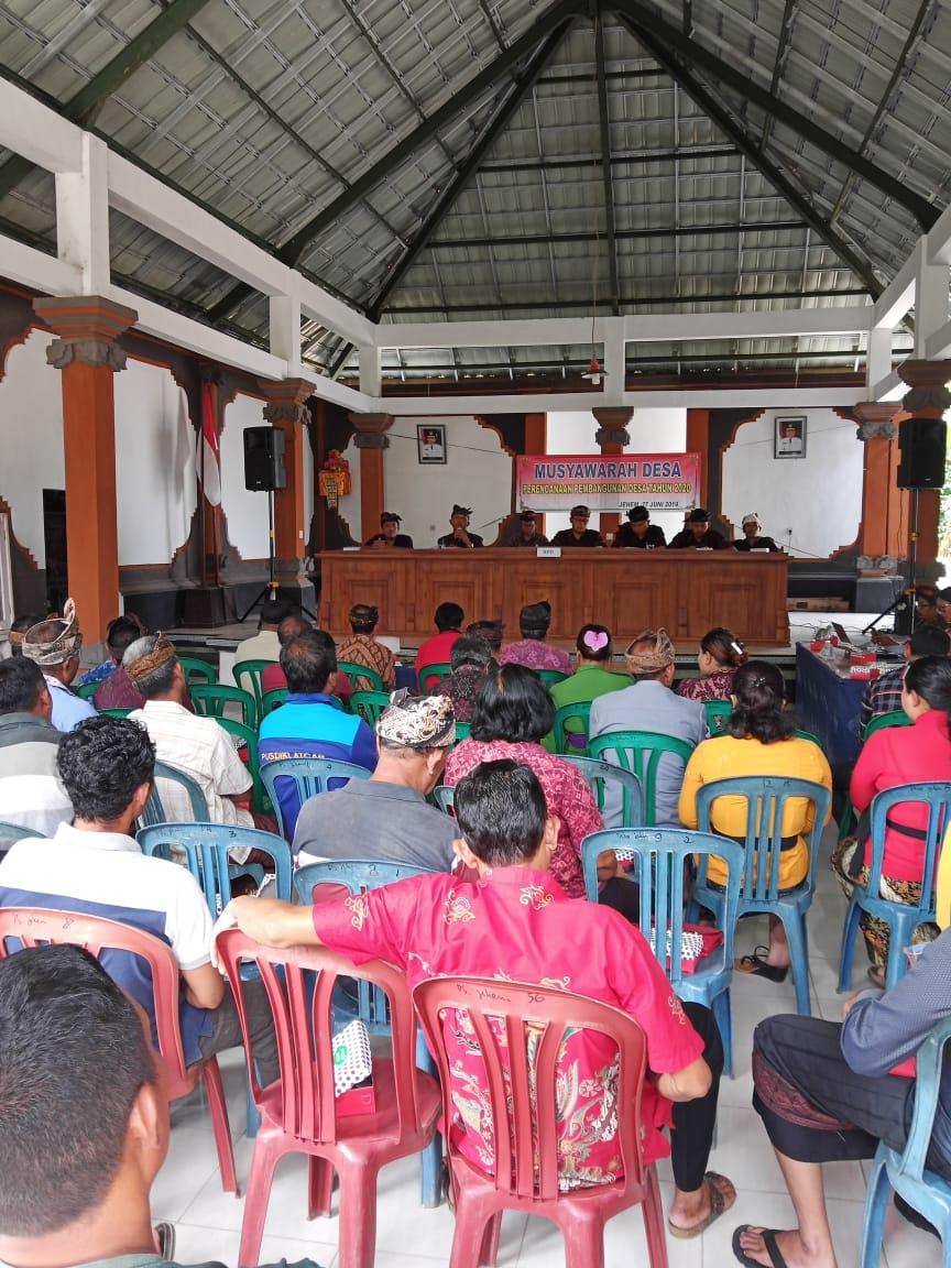 Rapat Musyawarah Desa Membahas Perencanaan Pembangunan Desa Tahun 2020