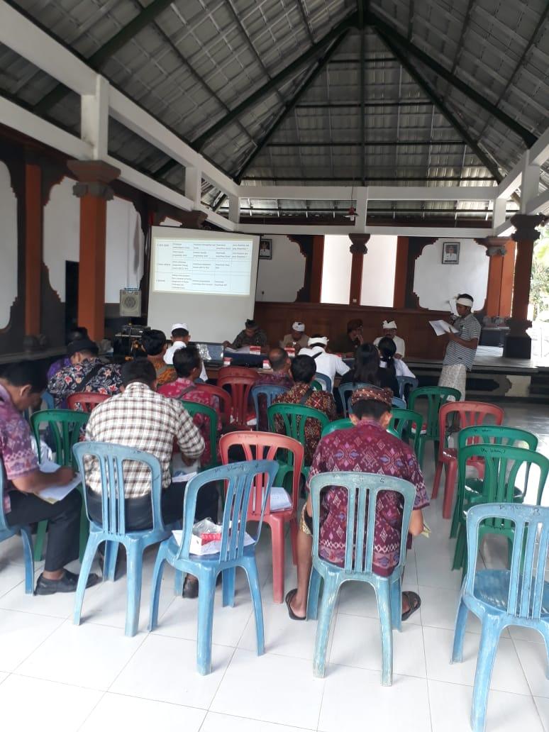 Rapat Musyawarah Kampung KB dari PHDI dan Tim Kampung KB
