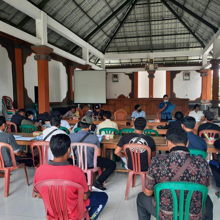 Acara Pelantikan Ketua KPPS Desa Jehem