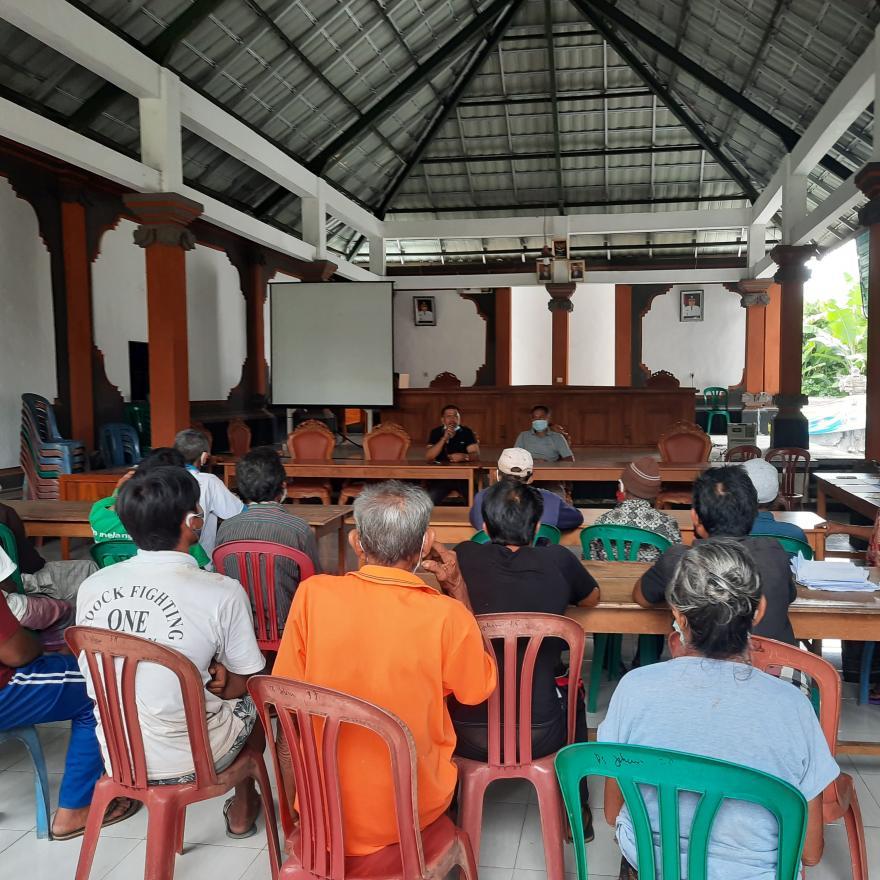 Penyerahan Bantuan Langsung Tunai Dana Desa (BLT-DD) Tahap lX Bulan Desember