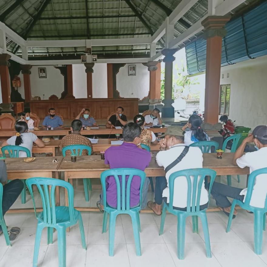 Rapat Pembahasan Rancangan APBDes 2021